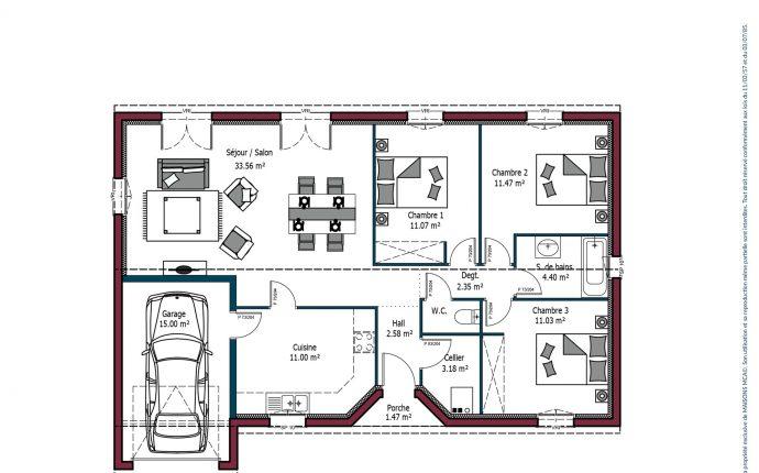 Plan Rochelle | 92 m²
