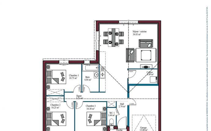 plan Aunis | 85 m²