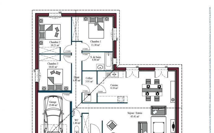 Plan Atlanta  | 100 m2