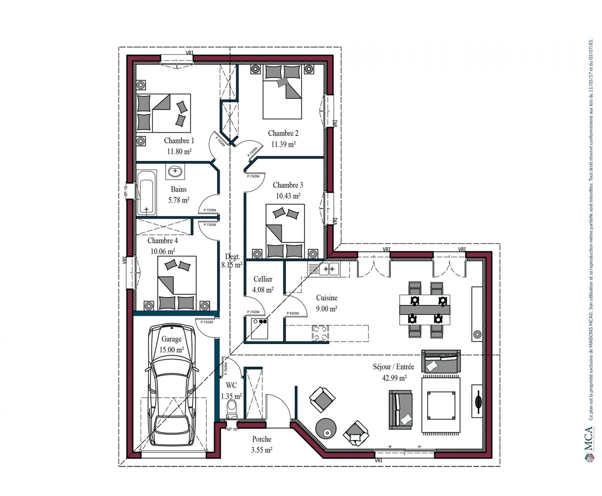 Plan Atlanta | 115 m²