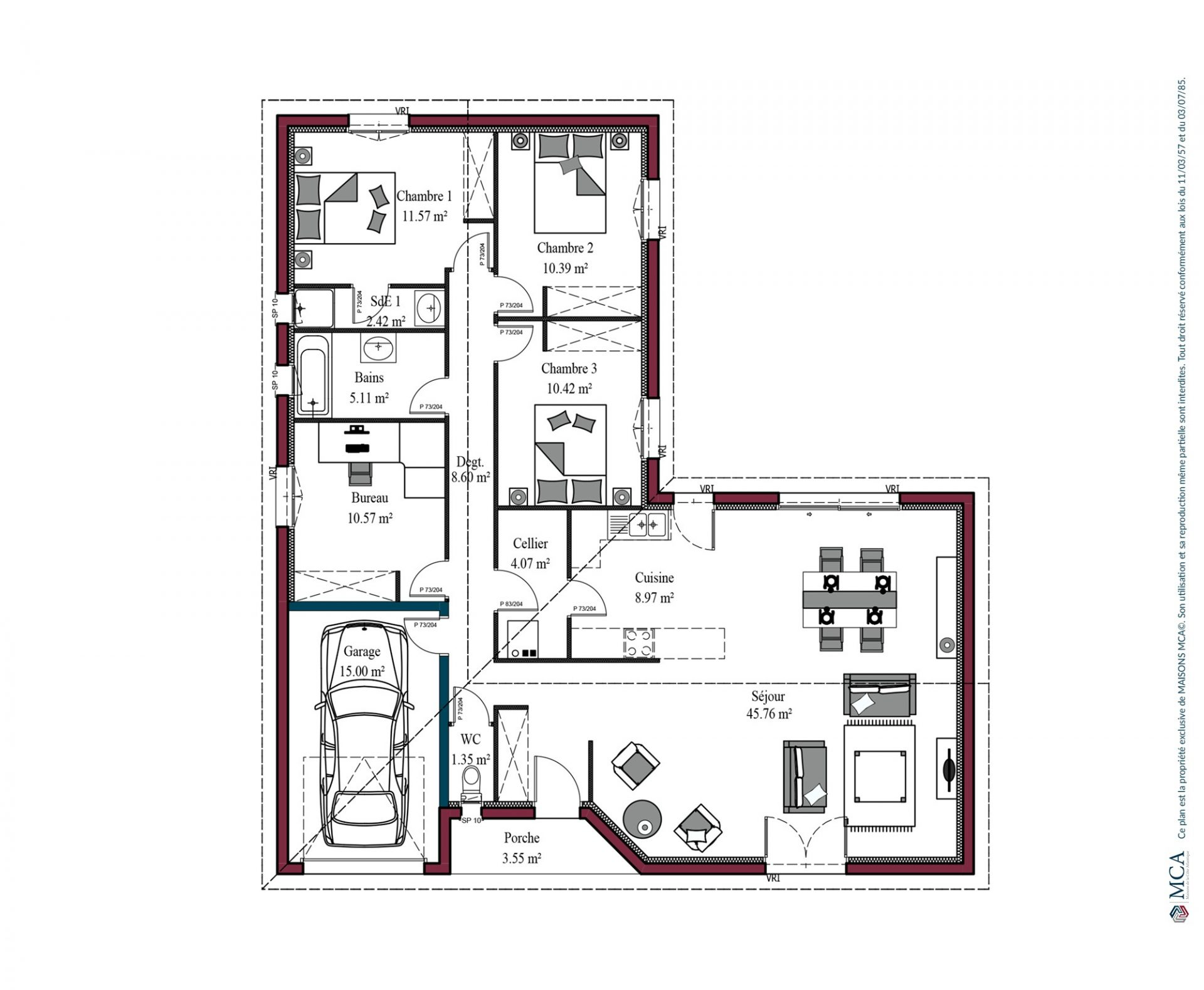 Plan Atlanta | 119 m²