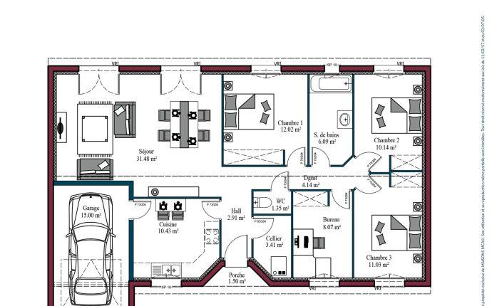 Plan Aurore   101 m²