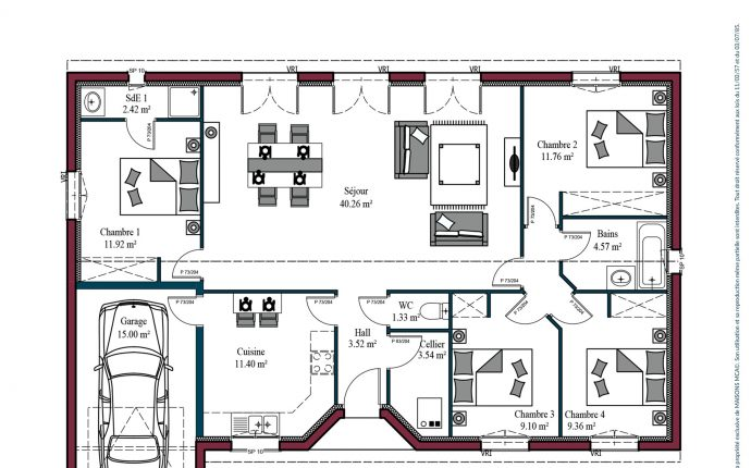Plan Aurore   111 m²