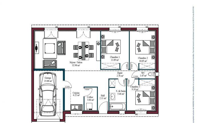 Plan Aurore   84 m²