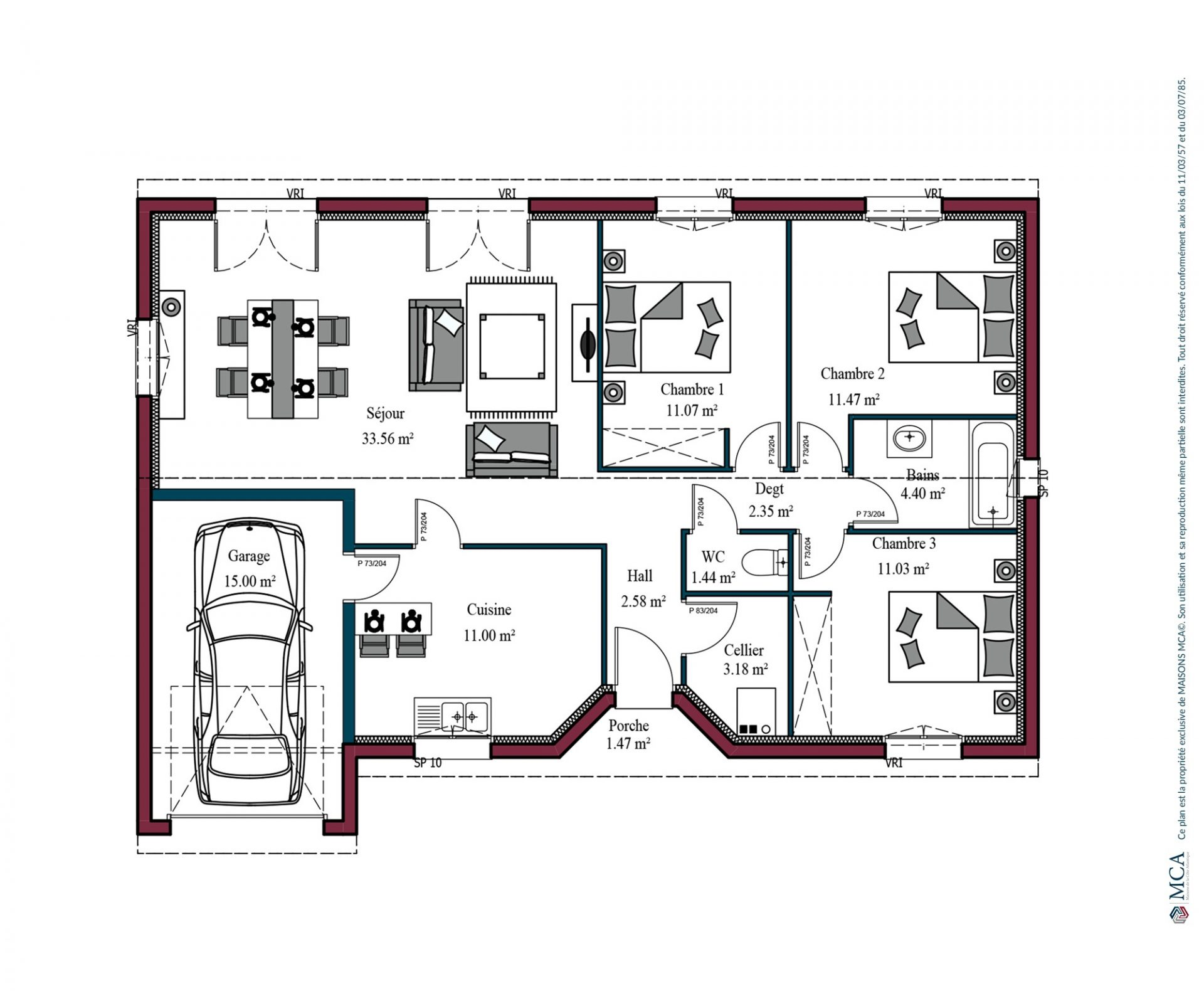 Plan Aurore   92 m²