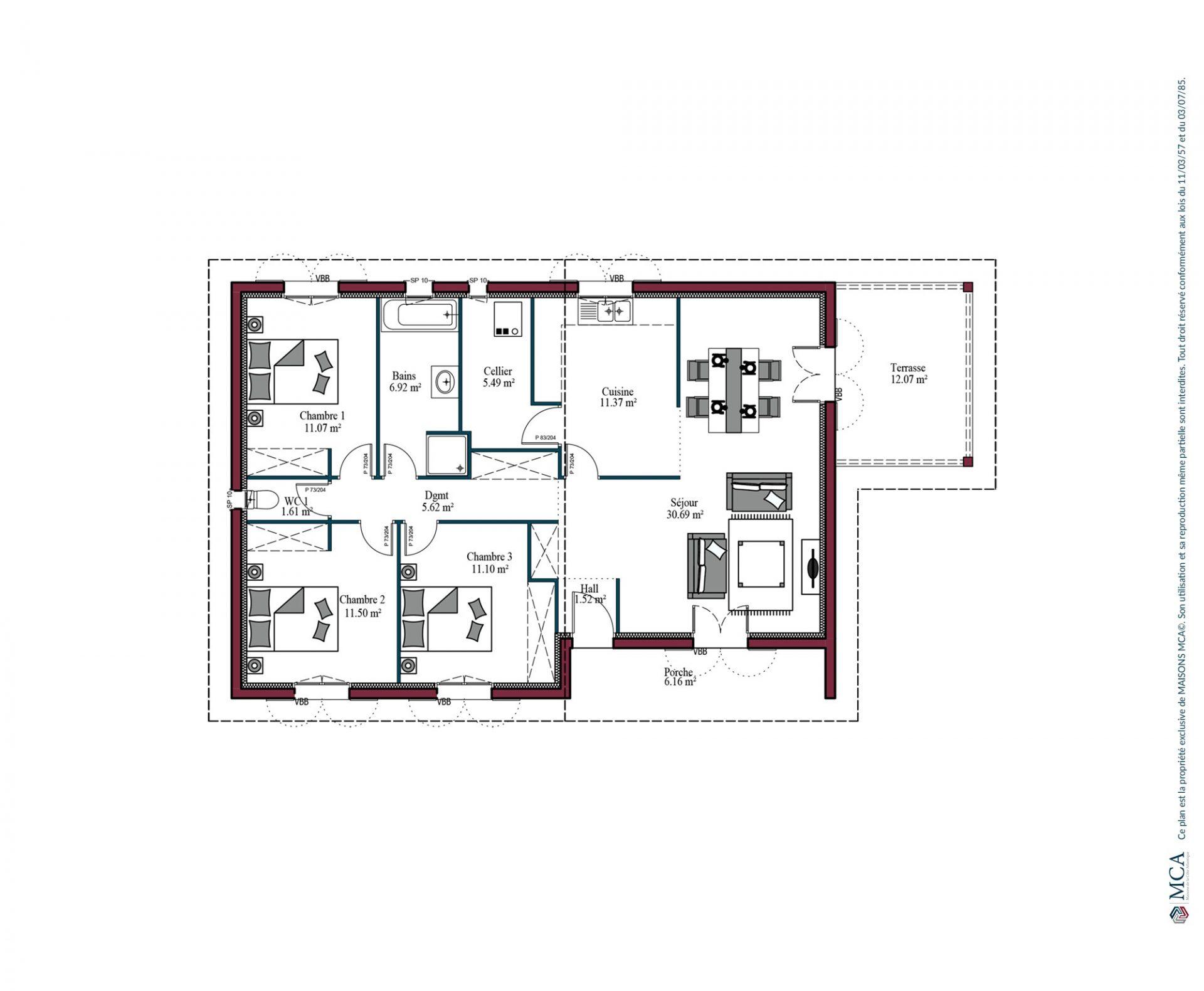 Plan Aintza | 96 m²