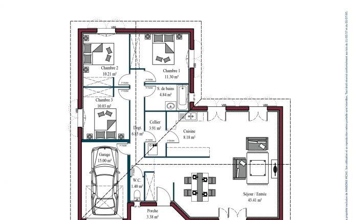 Plan maison basque Atenea | 100 m²