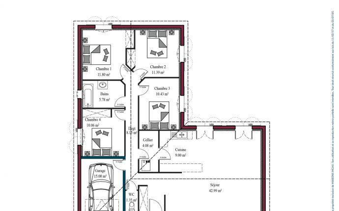 Plan maison basque Atenea | 115 m²