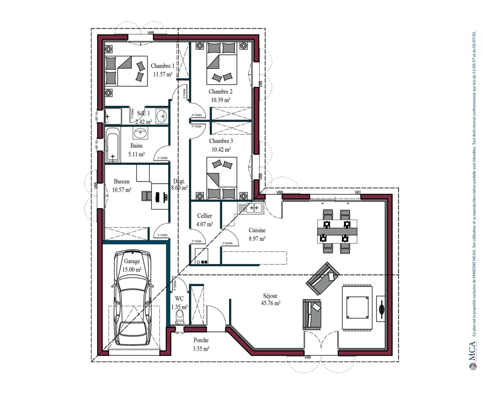 Plan maison basque Atenea | 119 m²