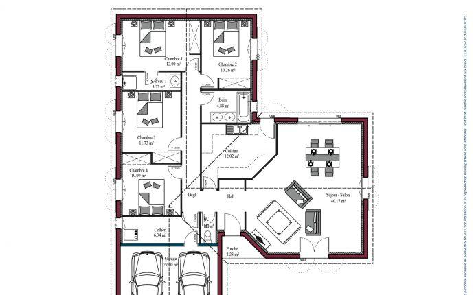 Plan maison basque Atenea | 125 m²