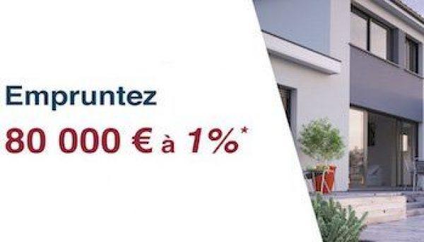 Empruntez 80 000€ à 1%