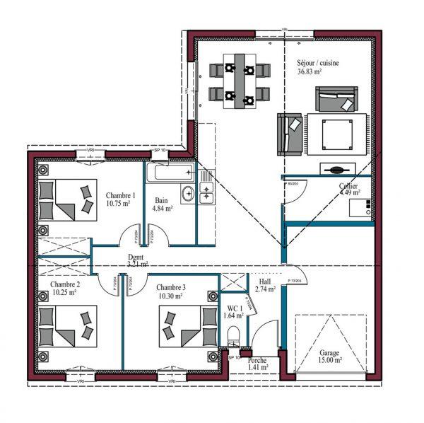 Maison de plain-pied: comment réalisersoi-même le plan de son habitat