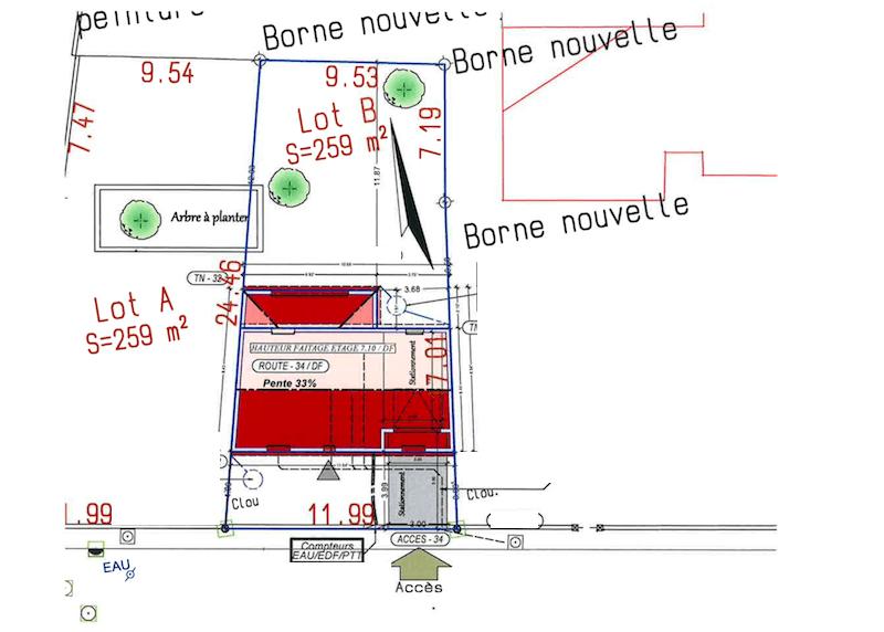 plan maison etage begles