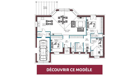 plan maison moderne EOS