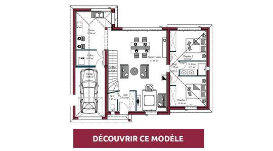 plan maison moderne design