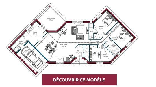 plan de maison moderne s+3