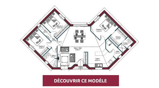 plan maison moderne lotus