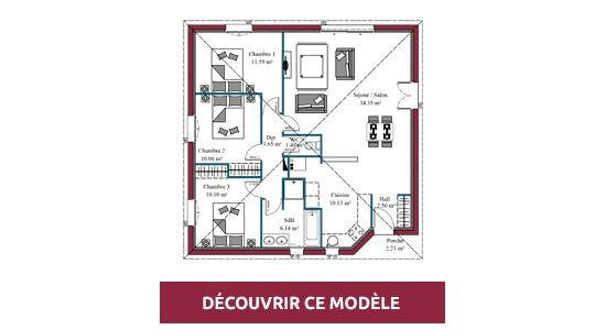 plan maison moderne prisma