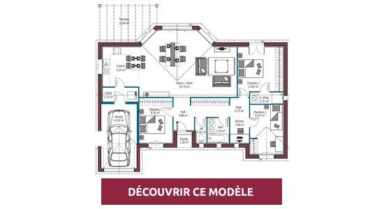 plan maison plain pied EOS