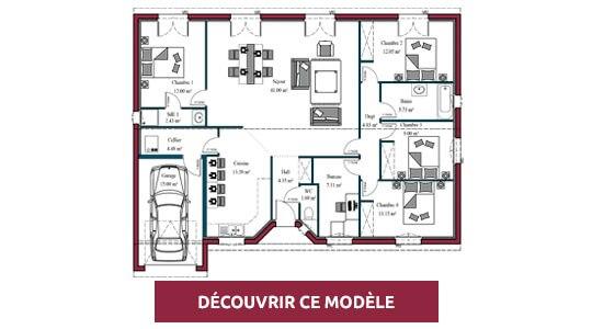 Plan maison plain-pied  Maisons MCA