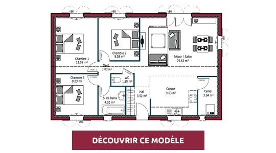plan maison plain pied desiree