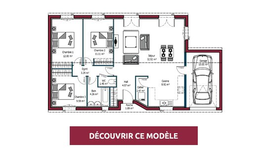 plan maison plain pied optima